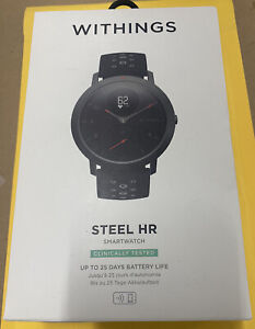Withings Steel HR Hybrid SmartWatch - 40mm Black Brand New FREE SHIPPING