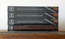 BLI 3760 N SCALE PRR P70R Heavyweight Coach w/AC Tuscan Red w/Gold - 4-Car Set