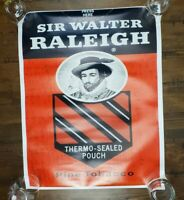 "Sir Walter Raleigh Tobacco Poster 23"" x 18"""