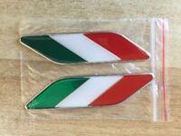2 Logo stemma bandiera Italiana tricolore per auto Fiat, Alfa Romeo, Lancia