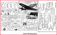 Model Airplane Plans (UC): P-63 Kingcobra 1/16 Scale for .19-.35 (Musciano)
