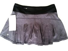 Lululemon Circuit Breaker Skirt 2 DDLB Lavender Black Tennis Golf Shorts Run NWT