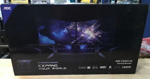 "AOC C24G1 24"" Curved Frameless Gaming Monitor, FHD 1920x1080 - BRAND NEW"