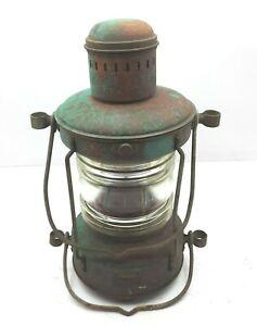 Ahlemann Schlatter Bremen Metallwarenfabrik Germany Lantern Copper Red Vintage