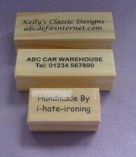 Personalised 2 line stamp Polymer Stamp