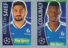 550 SAIEF /  KALIFA COULIBALY  KAA GENT STICKER CHAMPIONS LEAGUE 2016 TOPPS