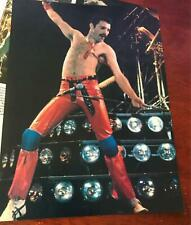 1980 Vintage 8X11 Magazine Clipping Queen'S Freddie Mercury + Red Leather Pants