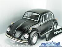 VOLKSWAGEN BEETLE MODEL CAR 1:43 SCALE MATT BLACK CARARAMA SALOON K8Q