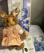 "Robert Raikes 14"" Rabbit Aunt Marylou carved Face  LMT  2666/7500 Easter 1990"