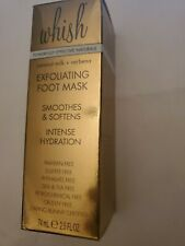 Whish Exfoliating Foot Mask 2.5 OZ / 74 ML Full Size New In Box