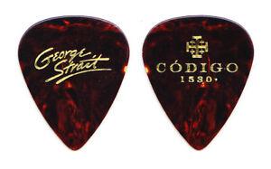 George Strait Codigo 1530 Tequila Brown Faux Tortoise Guitar Pick - 2019 Tour