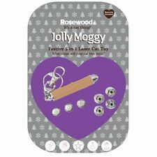 Jolly Moggy festive laser chaser - cat Christmas toy with xmas shapes