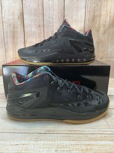 Nike Air Max LeBron 11 Low Black Gum Basketball Shoes 642849-078 US Men Size 11