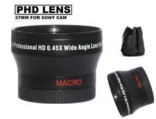 37mm Phd Wide Angle Lens for Sony HDR-CX700V CX560V PJ10 XR260V CX160 CX130 +