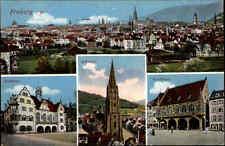 1916 Feldpostkarte mit Stempel FREIBURG BREISGAU AK ua. Kaufhaus Rathaus color