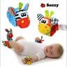 2x Baby Infant Developmental Soft Wrist Strap Foot Socks Rattle Bug Finders Toys