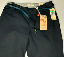NWT DOCKERS Metro Capri Black Pants Size 8 w/ Belt NEW
