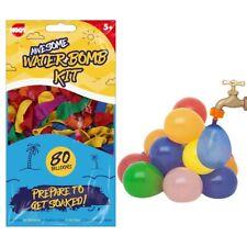 160x NEON WATERBOMBS EASY FILL & TIE Water Balloons Outdoor Summer Garden Games