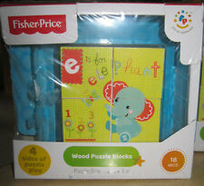 Fisher-Price Wood Puzzle Blocks New ages 18m+