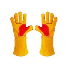 390mm Long Welding Gloves,Welders Gauntlets Woodburner Gloves High Temperature