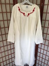 NWOT! Land's End Long Flannel Night Gown Long Sleeve Size 3X 24W/26W