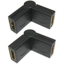 HDMI giratorias derecho Angel/adaptador de ángulo de 90-270 grados Conector Socket A Hembra