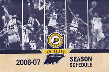 2006-07 INDIANA PACERS BASKETBALL POCKET SCHEDULE