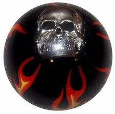 Black Flamed Skull shift knob manual M12x1.25 thrd