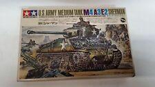 VINTAGE Rare!!  Tamiya 1/35 Motorized M4A3E2 Sherman Medium Tank Model Kit