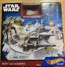 Hot Wheels Star Wars Starship Hoth Echo Base Battle Play Set Snowspeeder NEW