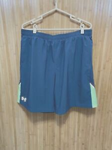 Under Armour Heat Gear Lined Running Shorts - Gray - Men's XL