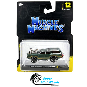 Maisto 1:64 Muscle Machines - 1970 Oldsmobile Vista Cruiser (Green)