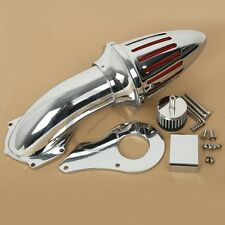 Chrome Air Filter Cleaner Set Intake For Honda Shadow VLX600 VT600C Deluxe 1999+