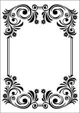Floral Corner Frame 107744 Embossing Folder for Cardmaking, Scrapbooking, etc