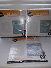 3 Packages HIH Room 3-D Shapes White Removeable