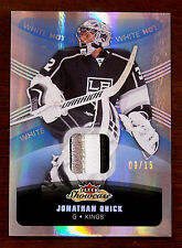 2015/16 JONATHAN QUICK FLEER SHOWCASE WHITE HOT GU PATCH SSP / 15