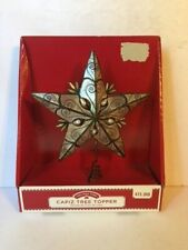 Holiday Time Black 5 Point Capiz Star 10.5� Christmas Tree Topper w/ Pearls