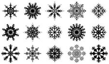 20 water slide nail art transfer decals Christmas snow flakes 3/8 inch trending
