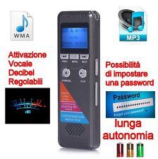 REGISTRATORE PROFESSIONALE 8GB PROCESSORE DUAL CORE AUDIO VOCALE MP3-WMA SPY