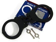 Peerless Handcuffs Black Oxide Model 802C Hinged + Keys
