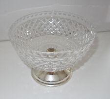 Bleikristall Schale Kristallschale Glas Fuß 50er 60er vintage