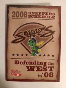 2008 Beloit Snappers Pocket Schedule A Affiliate Minnesota Twins Ben Revere