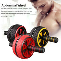 Gym AB Abdominal Roller Wheel Sport Fitness Waist Core Workout Exercise Machine