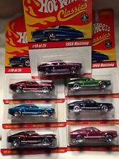 1968 Ford Mustang 7 Colors Set Hot Wheels Series 1