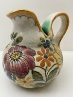 Areo Royal Zuid Holland Gouda Art Pottery Vtg Mission Arts Crafts Style Pitcher