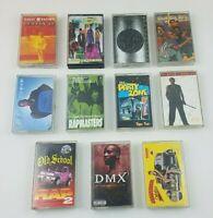 11 Vintage 90's Hip Hop Rap R & B Cassette Tape Lot DMX Blackstreet Rapmasters