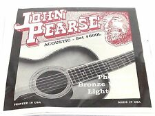 John Pearse Guitar Strings Acoustic Phosphor Bronze #600L Light