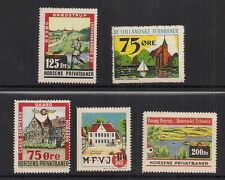 Denmark Railway stamps all MNH