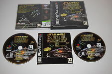 Star Wars Rebel Assault II The Hidden Empire Playstation PS1 Video Game Complete