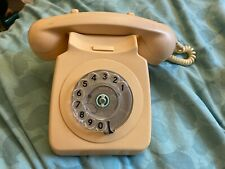 Rotary Phone Cream Beige Telephone Vintage Old-fashioned Retro Vintage Dial Prop